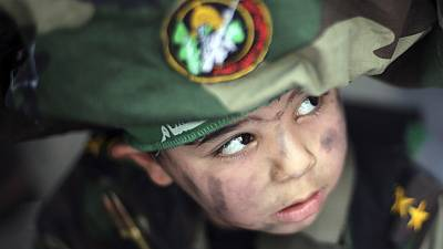 Young supporter of Hamas