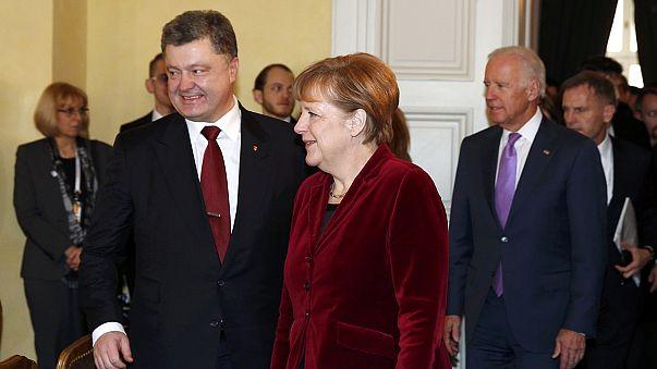 Merkel elutasítja a katonai megoldást Kelet-Ukrajnában