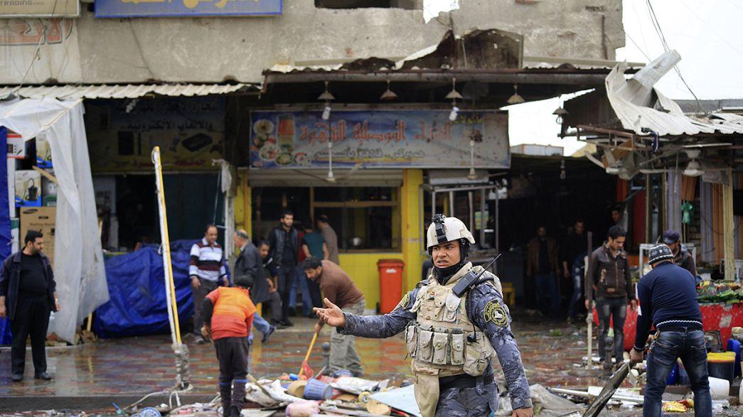 Tres atentados tiñen de sangre Bagdad