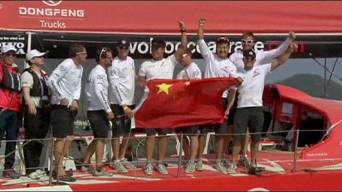 سباق فولفو للمحيطات:  فريق دونغ فينغ الصيني يتألق في ميناء سانيا بالصين