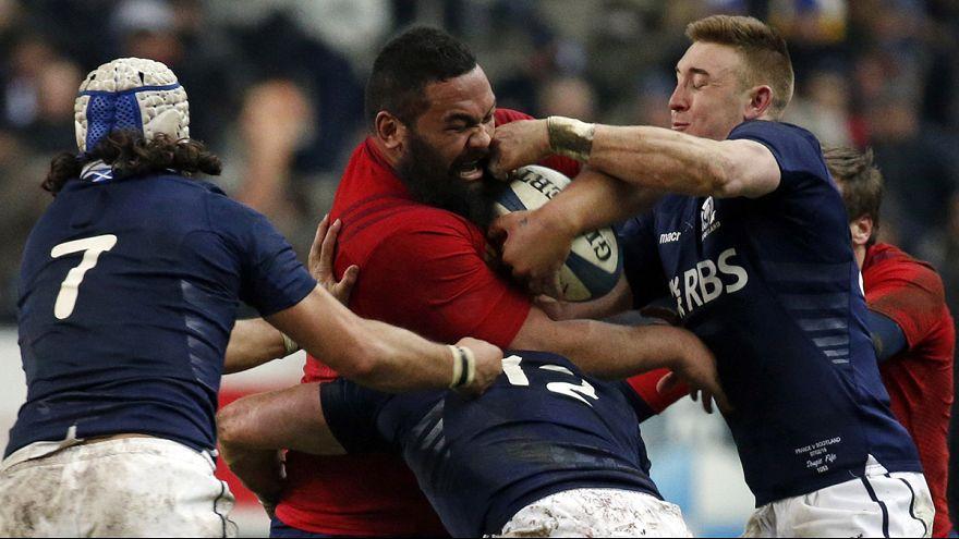 فرنسا تفوزعلى أسكتلندا في بطولة الأمم الست للروغبي