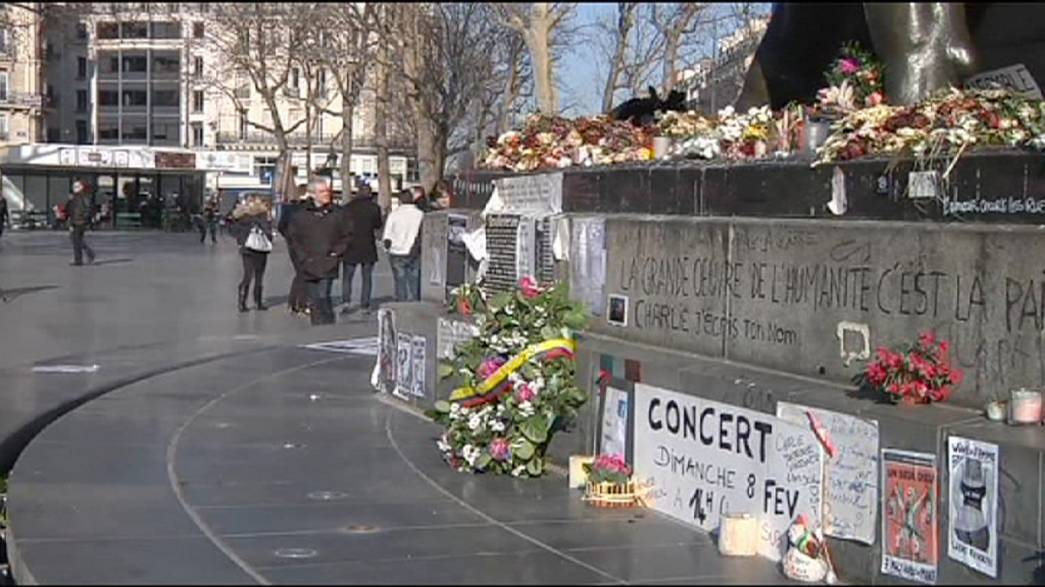 France remembers the Charlie Hebdo killings one month after the attacks