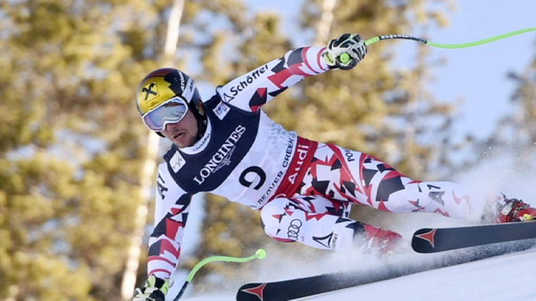 Slalom perfeito garante título mundial de super combinado a Marcel Hirscher