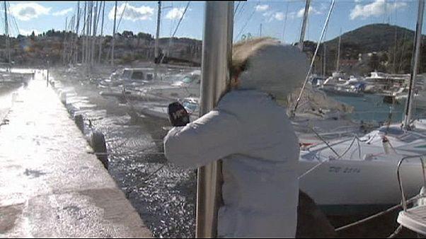 Croatie : des vents forts s'abattent sur Dubrovnik