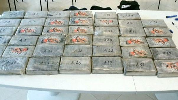 Italian police seized cocaine worth 36 million euros