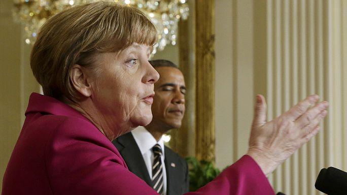 Ukraine : Obama n'exclut pas de livrer des armes, Merkel s'y refuse toujours