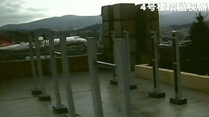Новые кадры недавней катастрофы тайваньского самолета