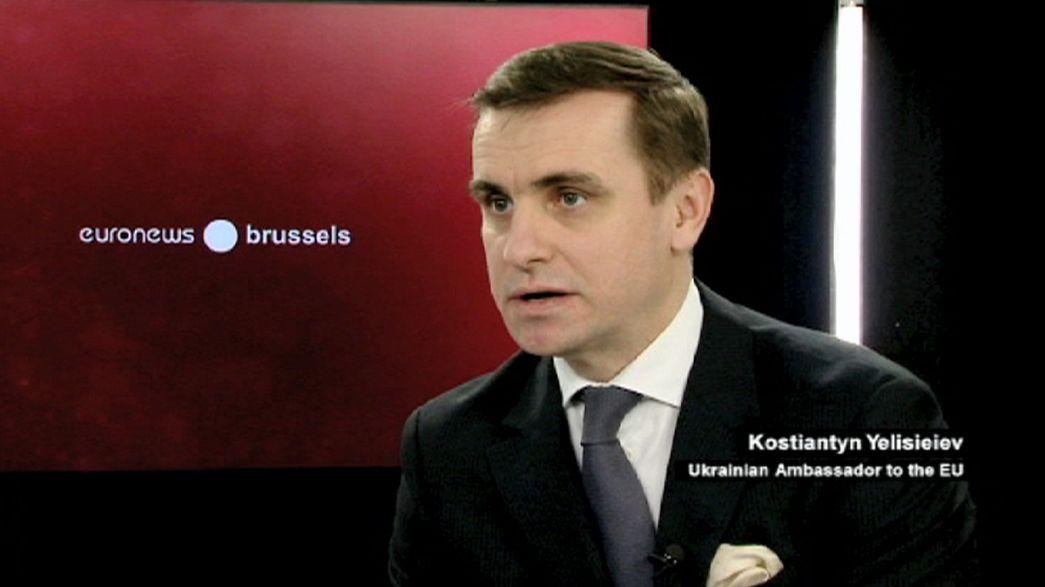 """Ukrainischer EU-Botschafter Yelisieiev: """"Wir brauchen Verteidigungswaffen"""""""