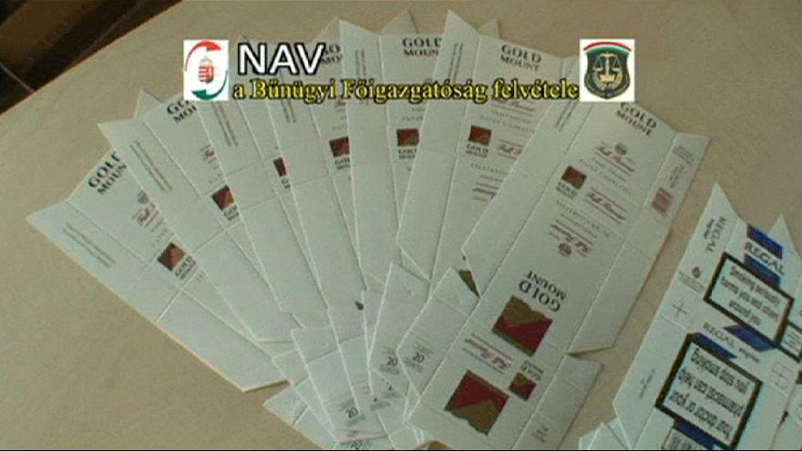 Desarticulada una banda de falsificadores de marcas de tabaco en Hungría