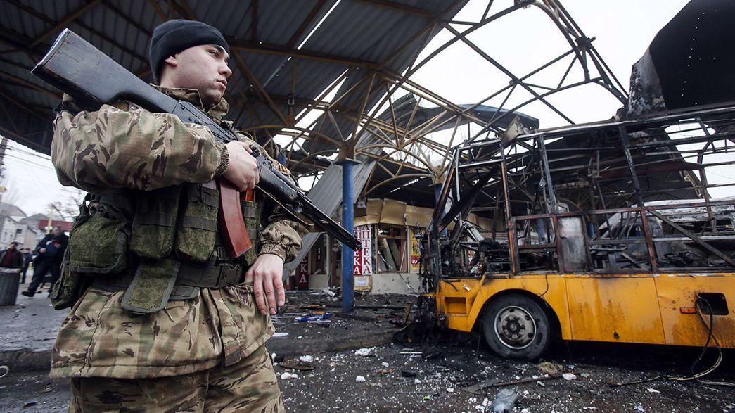 Attacco mortale a una stazione dell'autobus a Donetsk