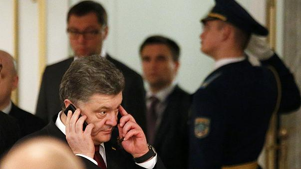 """No good news yet"", Ukrainian president tells reporters at Minsk talks"