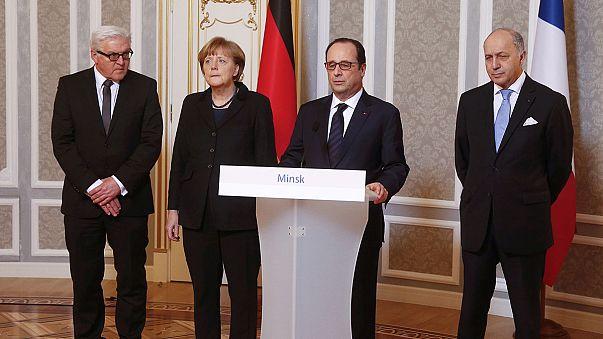 اتفاق في مينسك على وقف إطلاق النار في أوكرانيا ابتداء من يوم الأحد