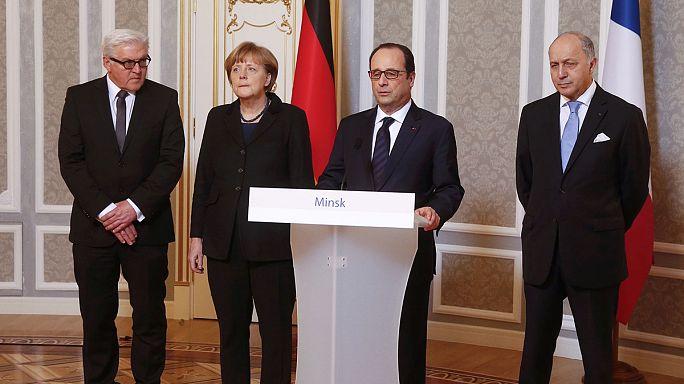 Almanya ve Fransa liderleri Minsk anlaşmasına ihtiyatlı yaklaşıyor