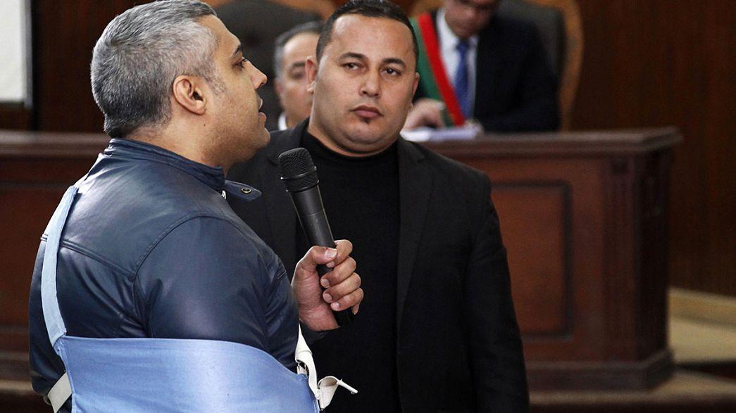 En libertad bajo fianza siete periodistas encarcelados en Egipto