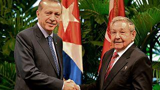 إردوغان يزور هافانا ويطلب من كاسترو السماح ببناء مسجد للمسلمين