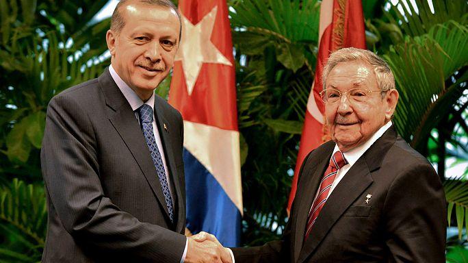 Erdogan szerint muzulmánok fedezték fel Kubát, mecsetet építtetne Havannában
