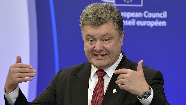 Poroşenko Minsk'ten sonra soluğu AB Zirvesi'nde aldı