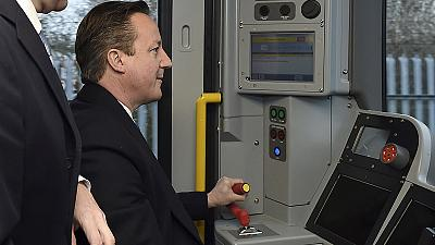 Cameron promises jobs as Labour steams ahead in election poll