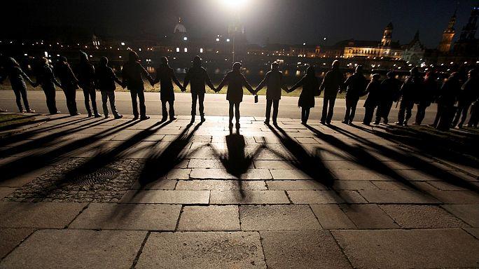 Drezda második világháborús pusztulására emlékeztek