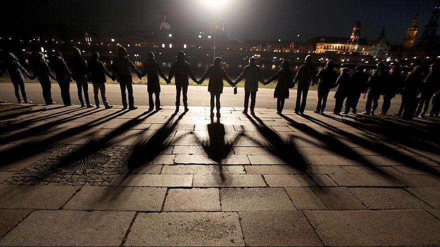 Dresde conmemora los 70 años del bombardeo aliado