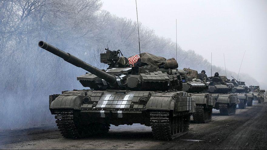 معارك  طاحنة  شرق أوكرانيا قبيل سريان اتفاق وقف إطلاق النار.