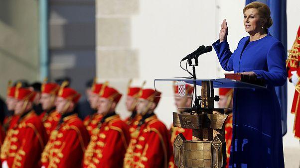La primera presidenta de Croacia toma posesión de su cargo