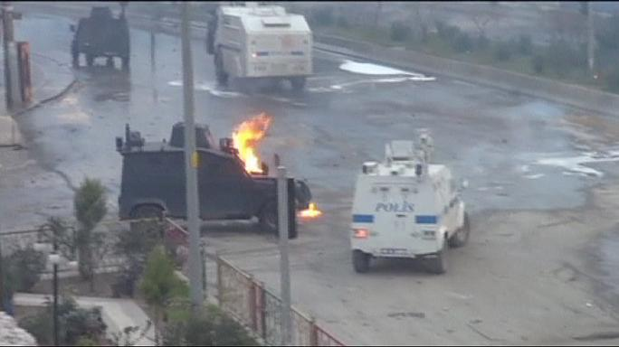 Kurds and Turkish police clash on anniversary of PKK leader's capture