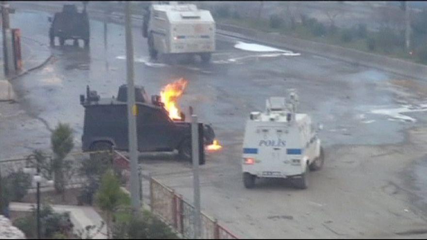 Cizre'de Öcalan gösterilerine müdahale