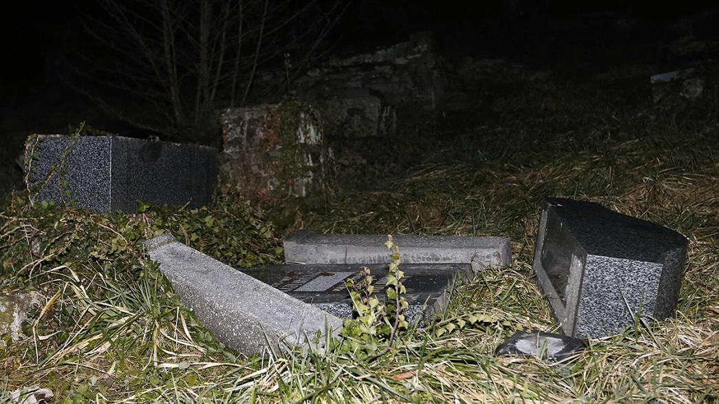 Jewish graves desecrated in France