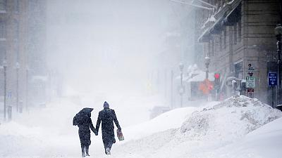Las nevadas baten récords en el noreste de EE UU