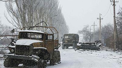 Keine Waffenruhe in Vuhlehirsk in der Ostukraine