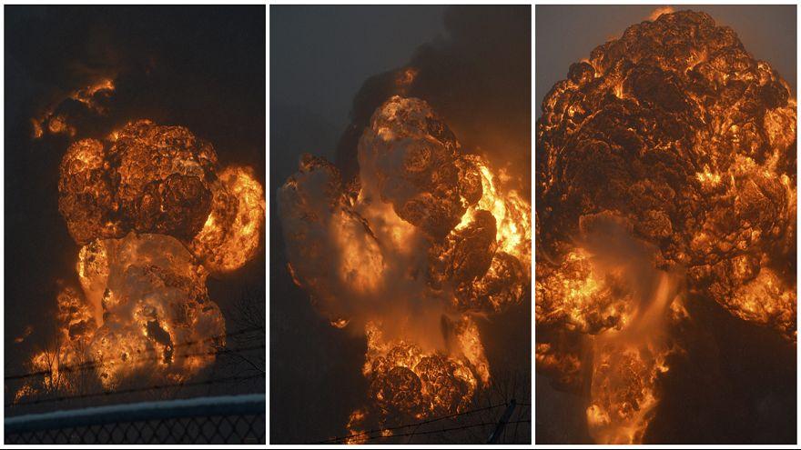Tartálykocsik lángoltak, újabb vonatbaleset az Egyesült Államokban
