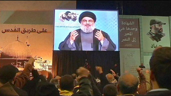 """نصر الله يعترف ب""""حضور متواضع"""" لحزب الله في العراق"""