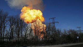 Debaltseve yakınlarındaki havan saldırısı an be an görüntülendi