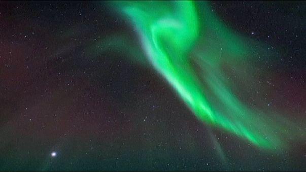 Espectacular Aurora Boreal en el Norte de Suecia