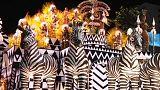 Rio Karnavalı'nda samba okullarının göz kamaştıran geçit töreni
