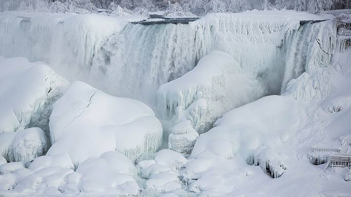 [In Pictures] Niagara Falls freezes over
