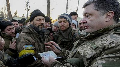 Poroshenko gets backing of Ukraine's security council as he calls for UN peacekeepers