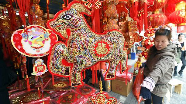 China welcomes New Year of the sheep or goat