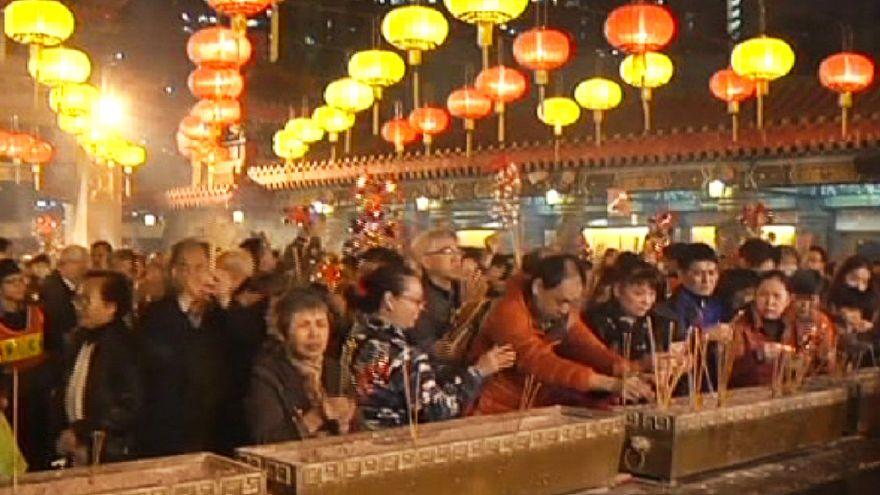 Hong Kong celebra ano novo lunar