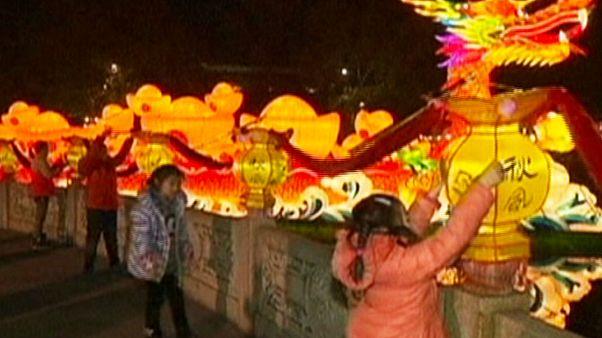 Illuminated Chinese cities celebrate Lunar New Year