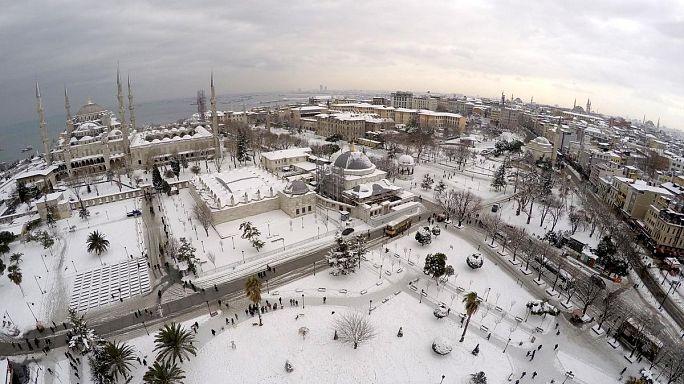 İstanbul kar altında