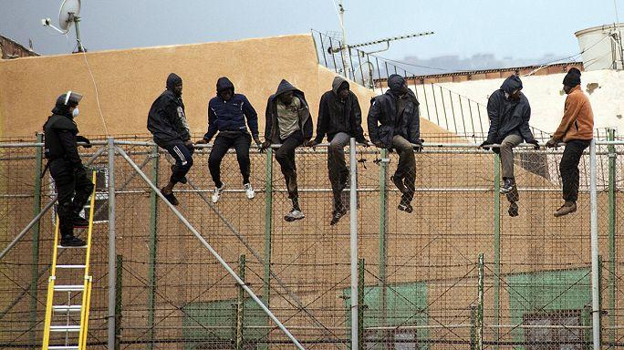 35 migrants ont forcé l'entrée de l'Europe à Melilla