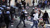 هواداران تیم هلندی فاینورد؛ با پلیس ضد شورش رم درگیر شدند