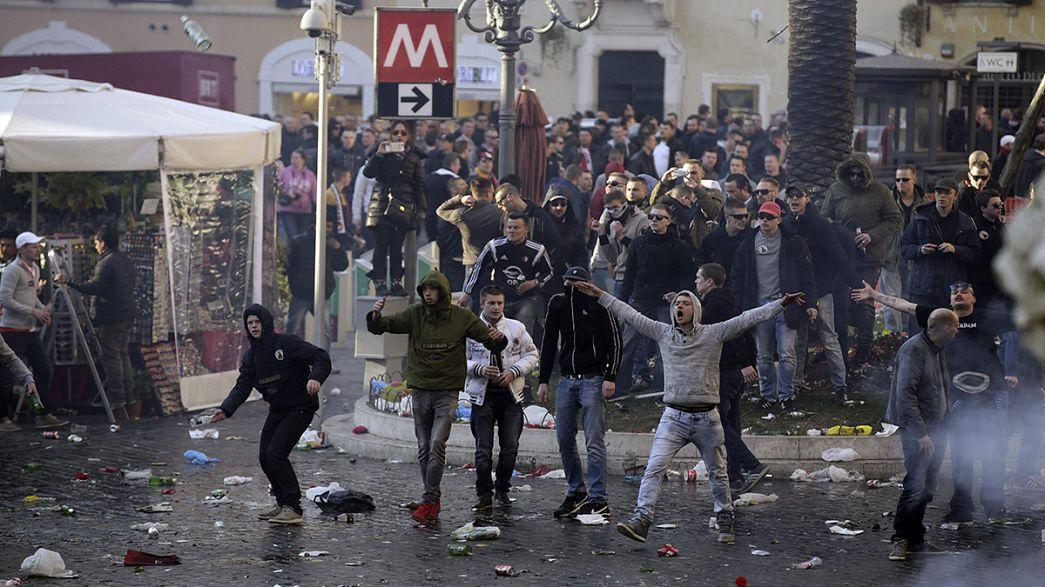 Adeptos do Feyenoord semeiam o caos em Roma