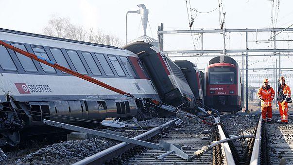 İsviçre'de korkutan tren kazası