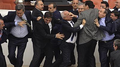 Turkish Politicians brawl