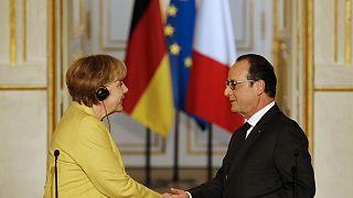 Le couple Hollande-Merkel au beau fixe