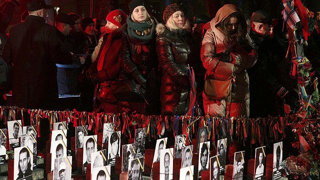 Ukraynalılar özgürlük için ölenleri unutmadı