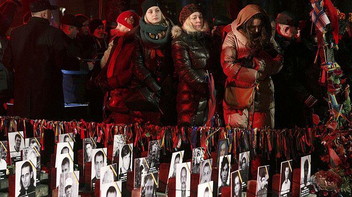 Ucraini di nuovo in Piazza Maidan nel primo anniversario della rivolta